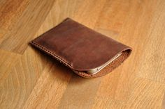 Peronsalised Simple Leather Phone Case / Iphone Pouch / Mobile Sleeve in Brown by Treibholz Designs designed in Germany Leather Phone Case, Mobile Cases, Iphone Phone Cases, Diy And Crafts, Leather Products, Slg, Pouches, Simple, Brown