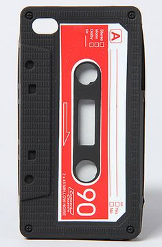 The Retro Cassette Iphone 4 Case in Black by *Accessories Boutique