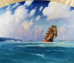 Spanish Galleon in Chesapeake Bay by N.C. Wyeth