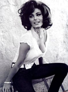 Perfectly Glamorous Sophia Loren. In my top 5 most gorgeous actress list. Ooops, according to another pinner, this is Not Sophia Loren, but a Guess ad.