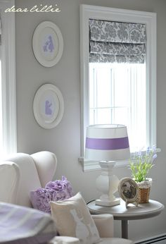Everly's Nursery by Dear Lillie - Everly is going to love it :)  That gray damask on the window (?)is heavenly.