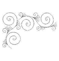 TKQ Feathered Curlique Border Corner another beautiful feather design Quilting Stencils, Quilting Templates, Longarm Quilting, Free Motion Quilting, Quilting Tips, Quilting Tutorials, Quilting Projects, Patchwork Quilting, Quilts