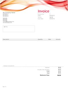 Beautiful Invoice Templates For Uk Soletraders And Limited