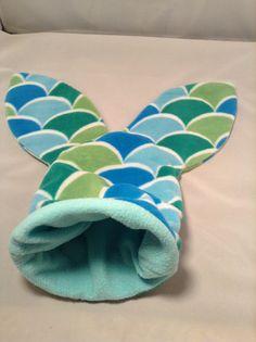 Light Blue Fleece Mermaid Tail Pouch / Cuddle Sack for a guinea pig, hedgehog, rat, etc.
