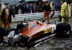 F1 Crash, Gilles Villeneuve, Ferrari F1, Checkered Flag, Car And Driver, Grand Prix, Cars And Motorcycles, Race Cars, Automobile