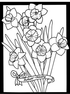 Welcome to Dover Publications - sample --The Language of Flowers Stained Glass Coloring Book