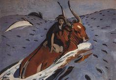 Серов В.. Похищение Европы. 1910