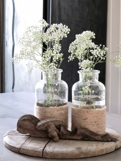 Gypsophila # way # # add, # this # gives # so, n # # … - Einrichtungsstil Decoration Plante, Decoration Table, Flower Decoration, Flower Power, Deco Floral, Gypsophila, Bottles And Jars, Home And Deco, Floral Arrangements