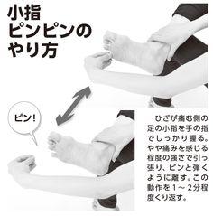 【やり方】膝痛の原因は足の小指が固まって動かせないから!?小指をピンピン弾いて刺激すると改善する   ケンカツ!