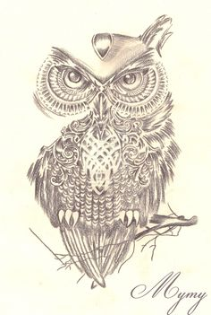Owl design by Mymy-La-Patate.deviantart.com on @deviantART
