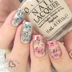"""95 Likes, 1 Comments - BornPrettyStore (@bornprettynail) on Instagram: """"Blakc Musical Notes Piano Keys Nail Water Decals item ID: 7500 Photo is from @nailslikelace only…"""""""
