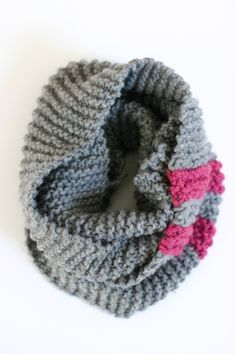 The Katy Cowl - An Easy Chunky Knit Pattern - Flax & Twine - something like this with bold red & silver yarns