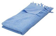 "Eshma Mardini Luxury Turkish Cotton Bath Towel Ultra Absorbent and Soft 73"" x 35.5"" - Light Blue - $17.95"