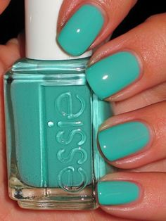 Turquoise and Caicos by Essie...  Newest color. :) hair-makeup