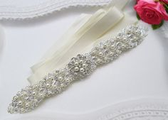 Hey, I found this really awesome Etsy listing at https://www.etsy.com/listing/227109811/sale-wedding-sash-pearl-bridal-belt