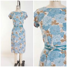Hey, I found this really awesome Etsy listing at https://www.etsy.com/listing/239055995/1950s-vintage-dress-blue-brown-cream