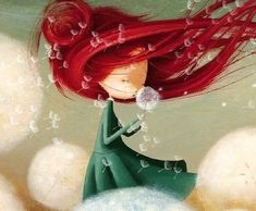 Beautiful Gif, Beautiful Drawings, Cute Drawings, Arte Punk, Wallpaper Iphone Disney, Bedtime Stories, Anime Art Girl, Children's Book Illustration, Whimsical Art