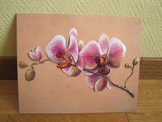 Tableau 3D orchidée White Rabbit Tattoo, Rabbit Tattoos, Orchid Flower Tattoos, 4 Image, Orchids Painting, Illustration Blume, Tattoo Stencils, Color Pencil Art, Acrylic Canvas