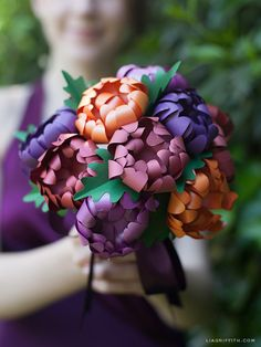 DIY Paper Mums for Your Wedding or Event   Lia Griffith