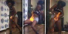 Galdino Saquarema Humor: Vagina de dançarina pega fogo durante dança  ..