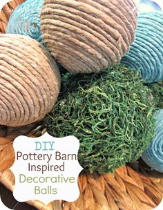 DIY Pottery Barn Inspired Decorative Balls | Six Sisters' Stuff