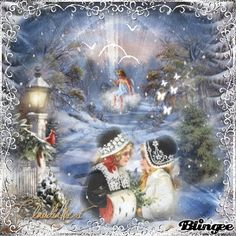 Vintage Winter Clip Art | This Blingee was created with Blingee Plus! Upgrade now! Install ...