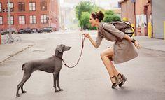 """Dancing in the Streets"" | Models: Coco Rocha & Liisa Winkler, Photographer: Dane Shitagi, Longchamp Spring 2012 Campaign"