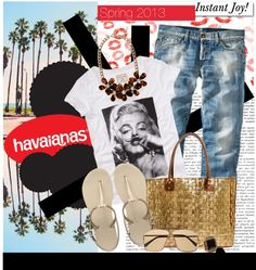 """Create #instantjoy with Havaianas"" by julietav on Polyvore"