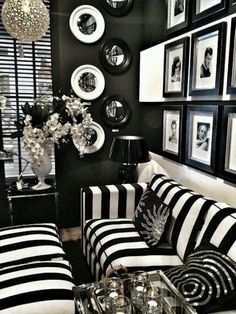 Black And White Living Room Interior Design IdeasDesign Living