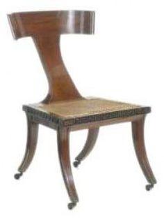 1805 Egyptian style Klismos Chair,