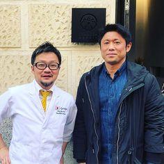 Keigo Onoda responsable de #Hanakura #ramenkagura #kuraya  #sushimarket y #kaguraexpres junto a Masahito Okazoe de #izariyamadrid #kaisekicuisine