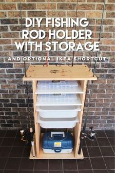 space-efficient way to store your fishing rods and fishing equipment.A space-efficient way to store your fishing rods and fishing equipment. Diy Fishing Rod Holder, Fishing Pole Storage, Fishing Rods And Reels, Kayak Storage, Fishing Australia, Fishing Tips, Fly Fishing, Fishing Lures, Fishing Boats
