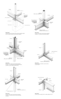 floating city Courtesy of Alex DuroCourtesy of Alex Duro Steel Structure Buildings, Structure Metal, Steel Frame Construction, Construction Drawings, Detail Architecture, Gothic Architecture, Ancient Architecture, Structural Drawing, Steel Detail