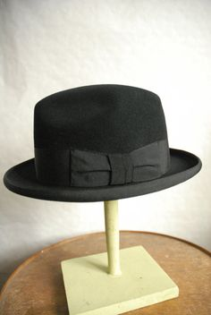 Vintage Mayser Milz Black Finas Homburg Fedora Hat 60 s UK 6 5 8 3082a325177
