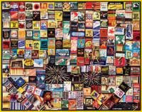 Matchbook Collection Collage  Puzzle - White Mountain Puzzles