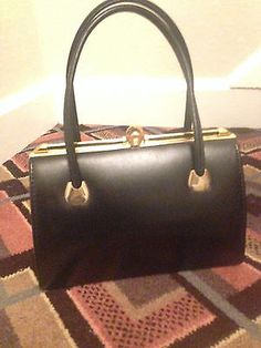 English/harmony art deco 40s/ 50s #black #kelly hand #bag.vintage/retro never use,  View more on the LINK: http://www.zeppy.io/product/gb/2/201505800827/