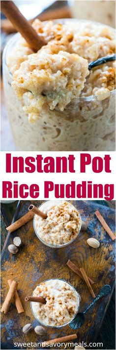 The Best Instant Pot Rice Pudding is sweet , creamy and aromatic, flavored with cinnamon and nutmeg, ready in just 30 minutes, thanks to your Instant Pot. #instantpot #pressurecooker