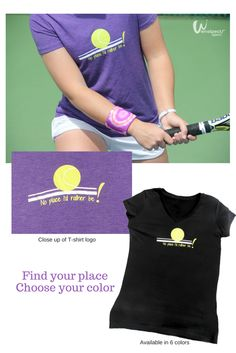 Tennis is your therapy and you're unafraid to proclaim your true desire, 'There's no place I'd rather be!' $26 http://wristpectsport.com/collections/womens-crew/products/no-place-id-rather-be-crew ('World' wristband shown from the World/Peace wristband collection).