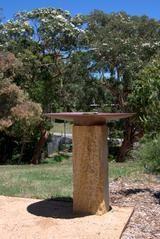 Sandstone Plinth Bird Bath Copper Dishes, Bath Water, Bird Baths, Garden Sculpture, Bowls, Country, Outdoor Decor, Serving Bowls, Rural Area