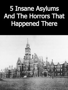 Creepy History: 5 Insane Asylums And The Horrors That Happened There Haunted Asylums, Abandoned Asylums, Abandoned Houses, Abandoned Places, Mental Asylum, Insane Asylum, Scary Places, Haunted Places, Real Haunted Houses