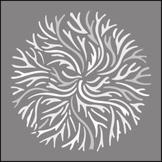 Japanese Coral stencils, stensils and stencles