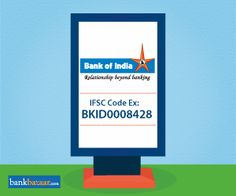 Bank of India IFSC Code Example