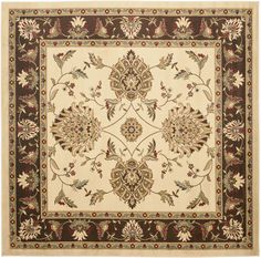 Lyndhurst Ivory/Brown Area Rug