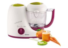 BEABA BABYCOOK SOLO MACHINE - 4 IN 1 - Prepare delicious, balanced meals for baby with the 4 in 1 patented, compact, and efficient BabyCook Solo from Beaba.   http://www.blossommotherandchild.com/babycook-solo