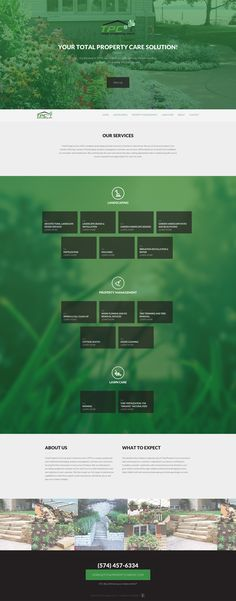 Responsive one pager promoting a landscaping and property management service. The font is maybe a touch small but green scheme works well for this type of business. Great to see one pagers for industries other than digital services.