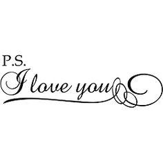 'P.S. I Love You!' Vinyl Wall Art ... about the door in our bedroom