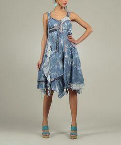 Blue Clara Sweetheart Dress by For Her #zulily #zulilyfinds