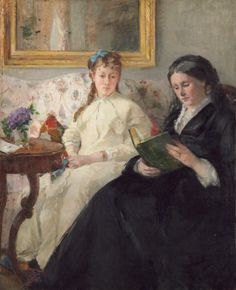 The Mother and Sister of the Artist, Bertha Morisot.  Eye Candy: Berthe Morisot double portrait. Lines and Colors post: http://linesandcolors.com/2014/05/11/eye-candy-for-today-morisot-double-portrait/