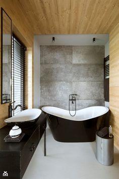 Mountain Cottage - Średnia łazienka w domu jednorodzinnym jako salon kąpielowy z oknem, styl nowoczesny - zdjęcie od HOLA DESIGN - homebook