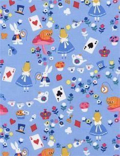 Alice in Wonderland by Timeless Treasures C4467-BLUE